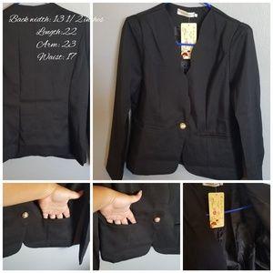 Jackets & Blazers - 🎃 Scalloped collar black blazer O2005